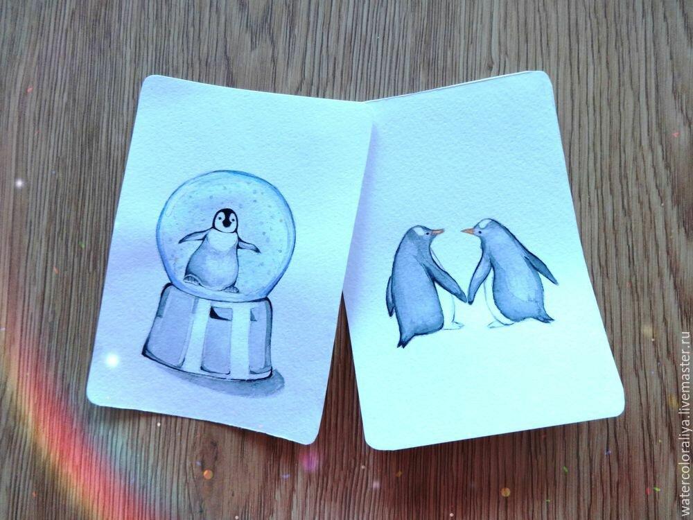 Рисуем открытку своими руками на новый год