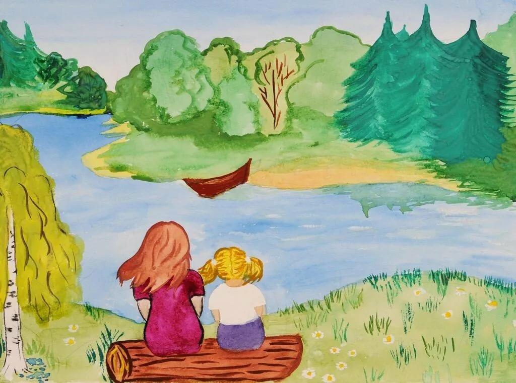 Картинки которые можно нарисовать для семьи лето например, командир