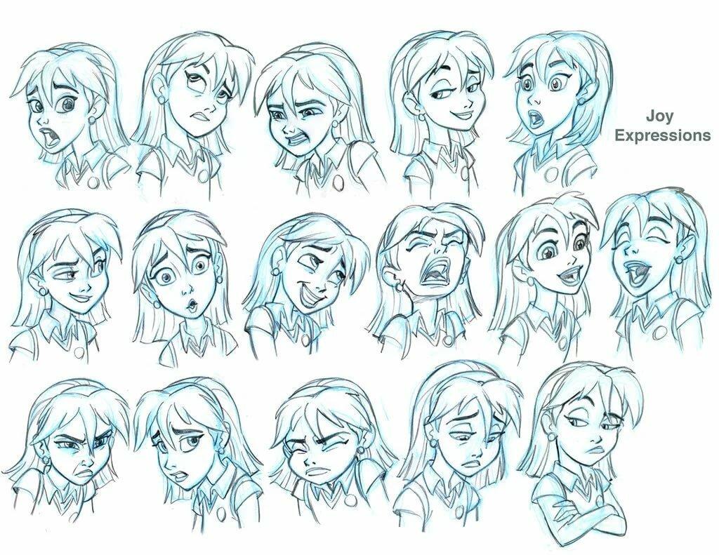 Женские эмоции арты