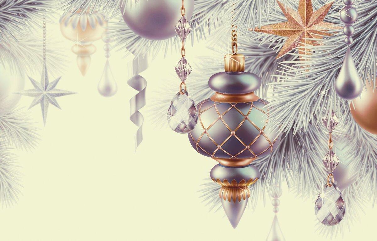Украшения для новогодней открытки