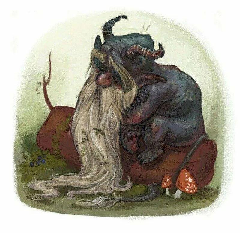 русские сказочные существа картинки этом
