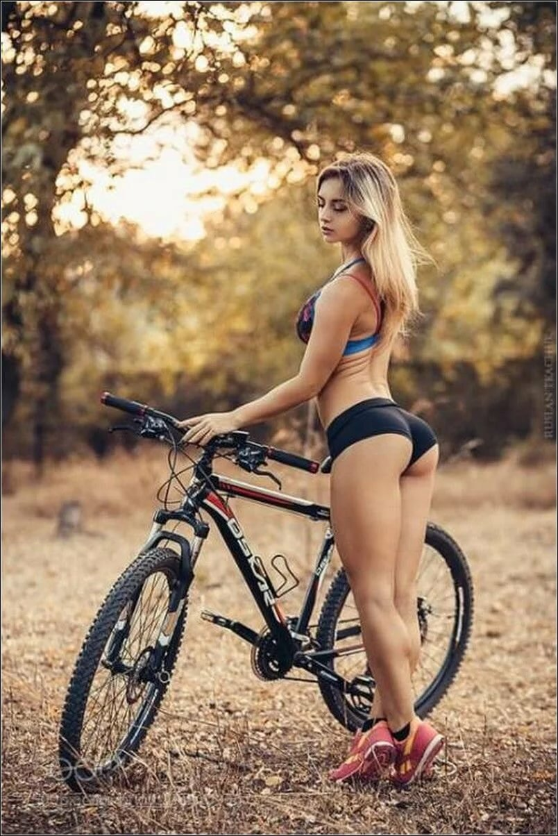 Sexy blond mountain bike, hot breast young girl sex