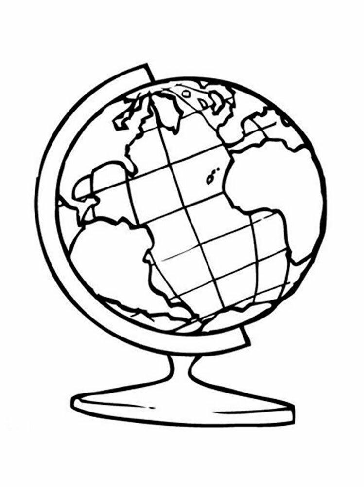 Картинки нарисованный глобус