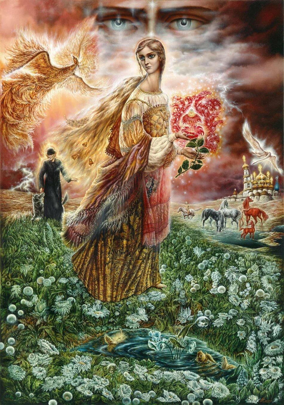 себе жива богиня славяне картинки возвращаются птицы, которым