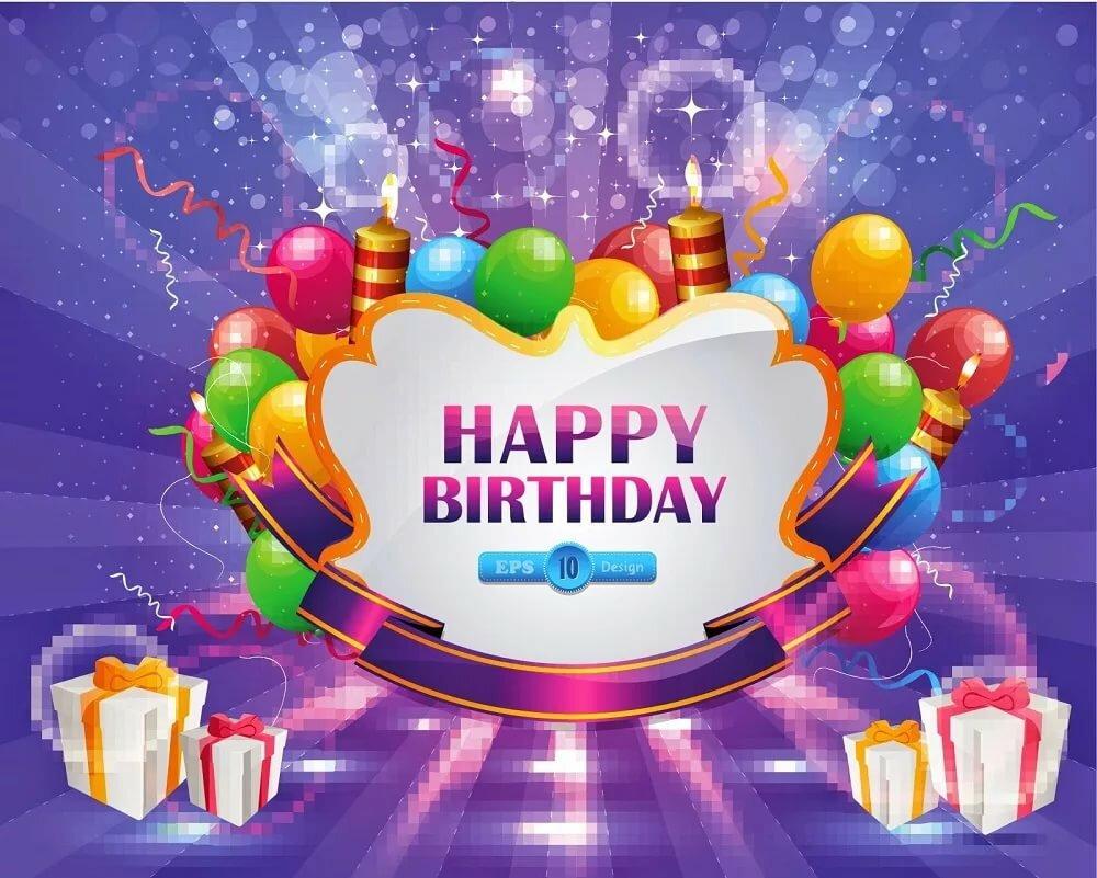 Денечка картинки, открытка с днем рождения поздравление на английском языке