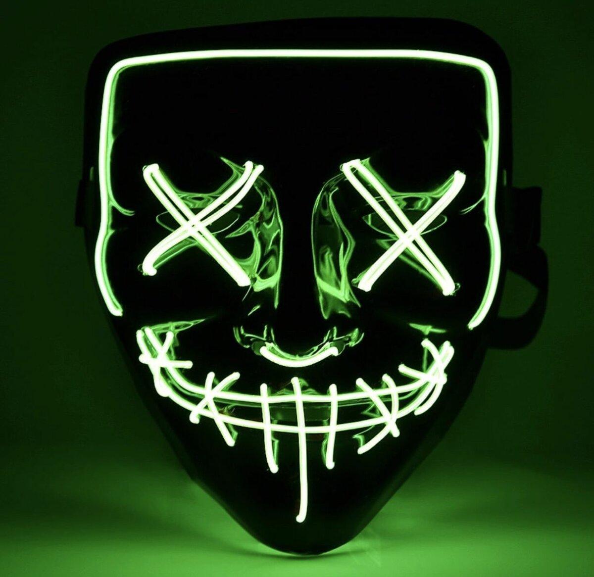 Неоновые маски в Чусовом