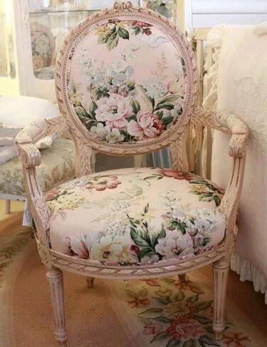 кресло шебби шик