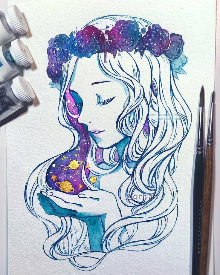 Красивые арт картинки для срисовки