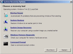 Use Startup Repair on Windows 7