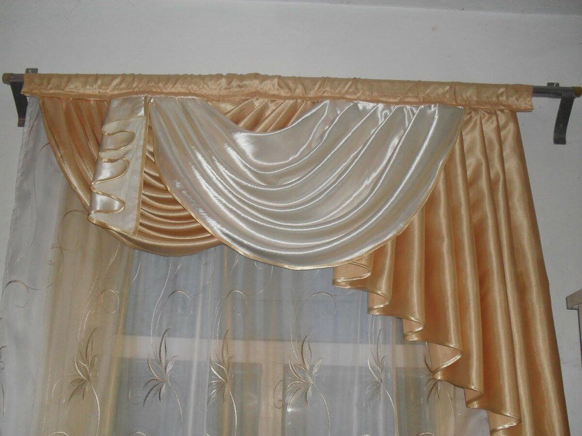 Боковой ламбрекен пошаговое фото