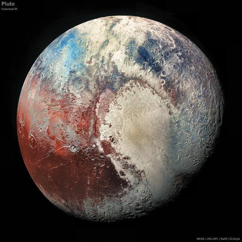 Самая свежая и чёткая фотография Плутона