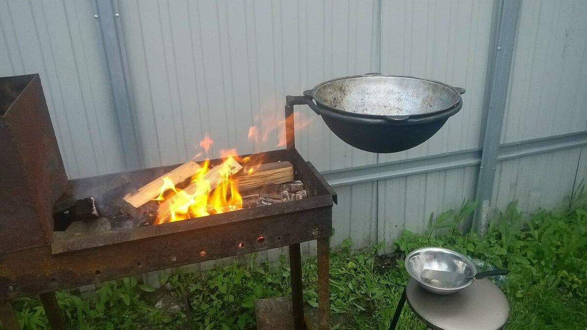 мангал для шашлыка и казана своими руками