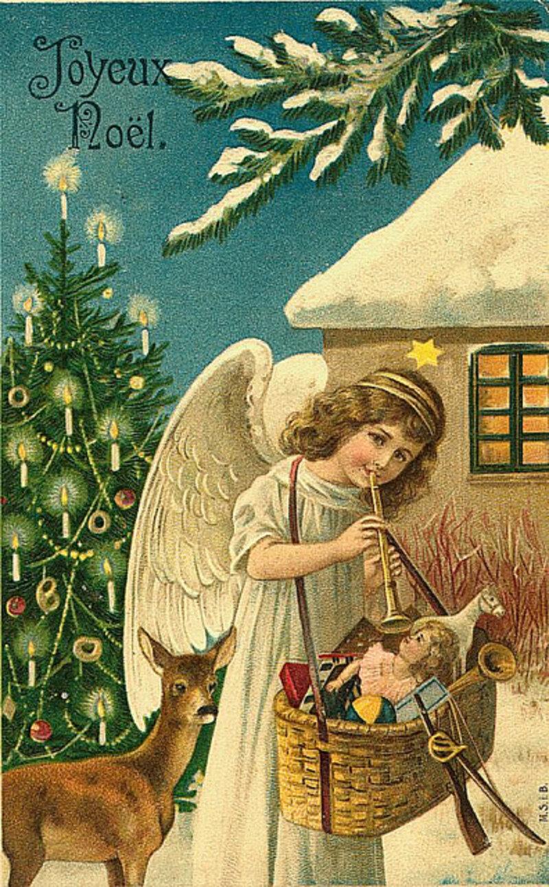 тому картинки к новому году и рождеству старинные участница слёта