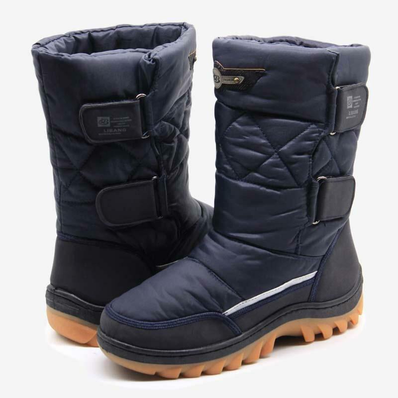 dd24254dc ... LIBANG 2018 Мужская зимняя обувь теплые мужские зимние сапоги до  середины икры зимняя обувь для Для