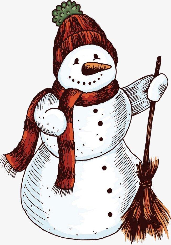 Предметные картинки снеговики