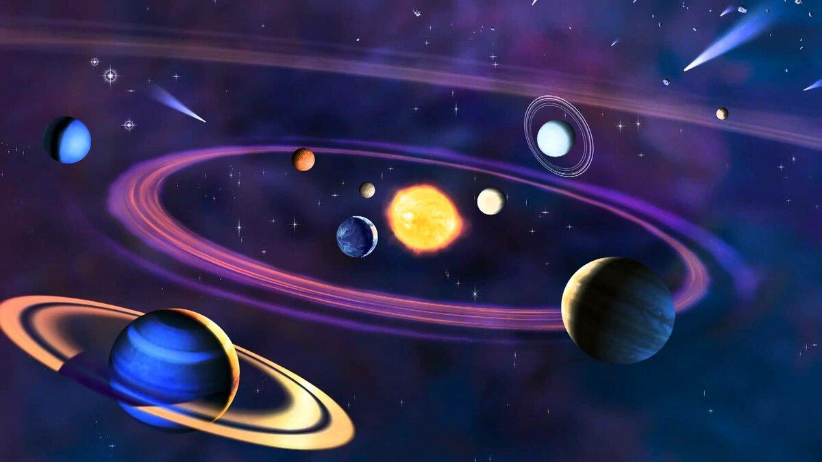 Картинка с солнечной системой на рабочий стол