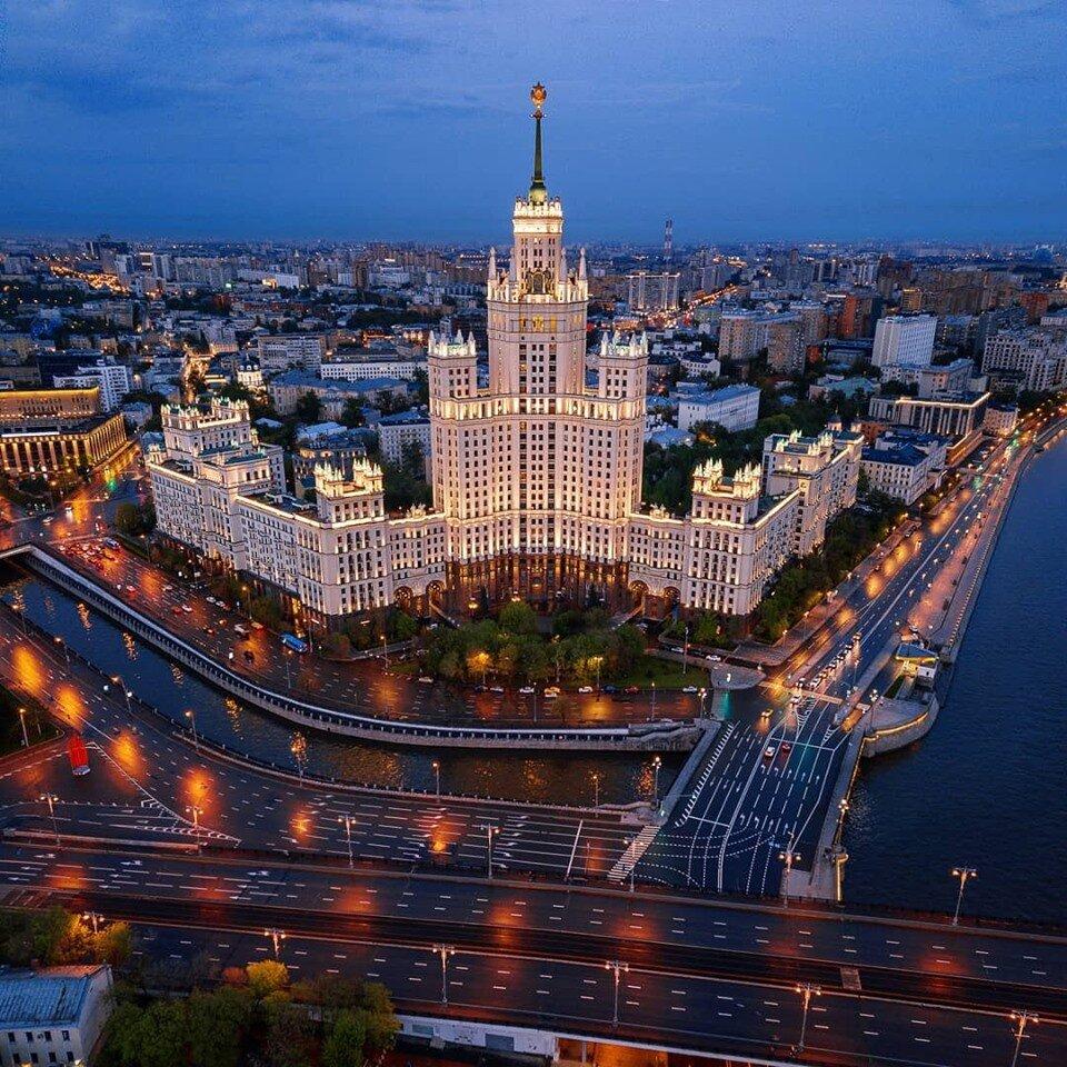 Картинки красивых зданий москвы