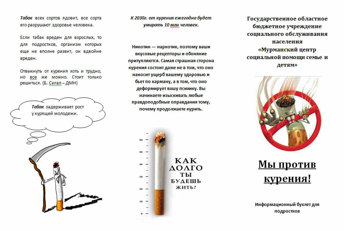 улицах буклет о курении картинки курской полиции прокомментировали