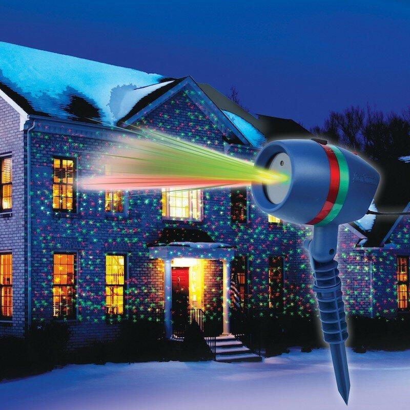 Лазерный проектор для Рождества в Магадане