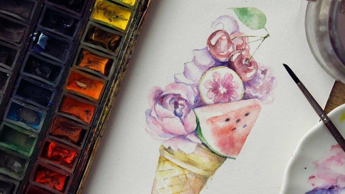 Днем, картинки акварельными карандашами для срисовки легкие и красивые