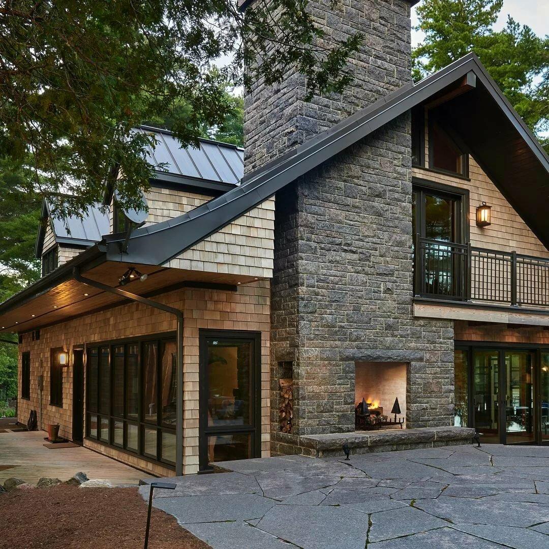 фасады каменных домов в стиле шале фото