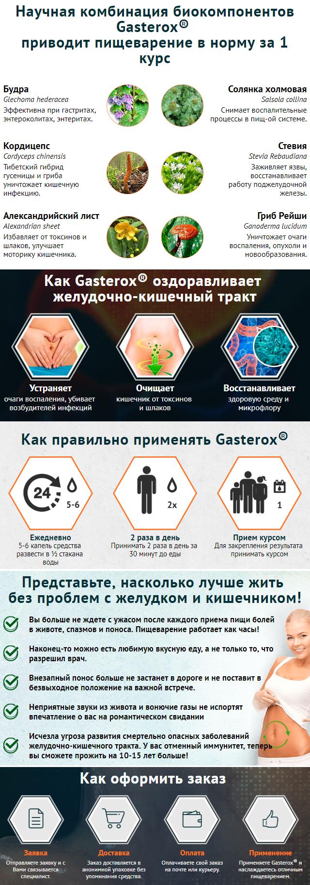 Gasterox от болезней живота и кишечника в Семее