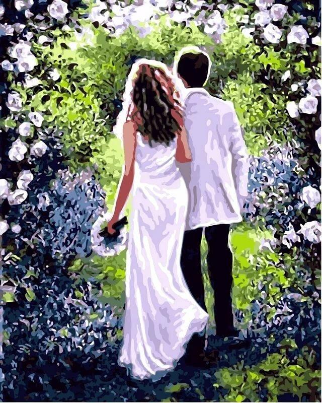 Картинки влюбленные в цветах
