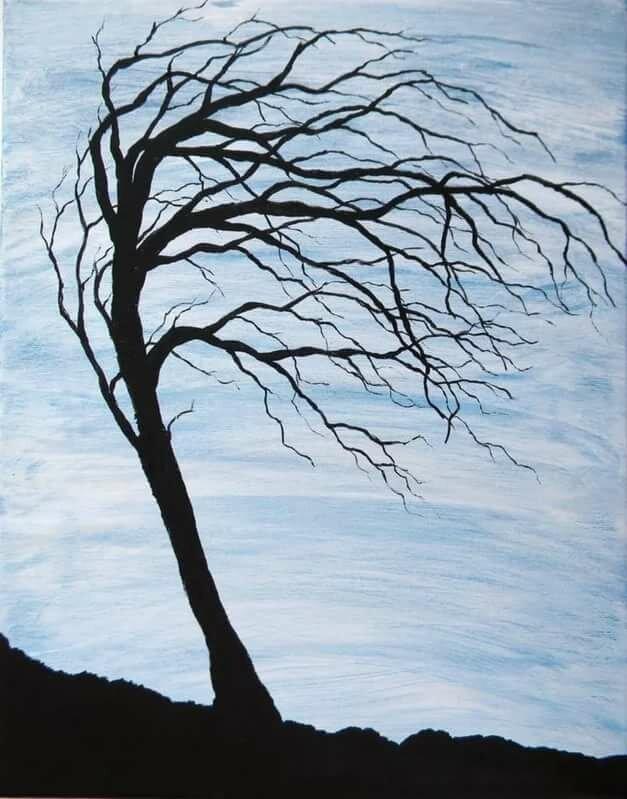картинки как деревья гнет ветер многим