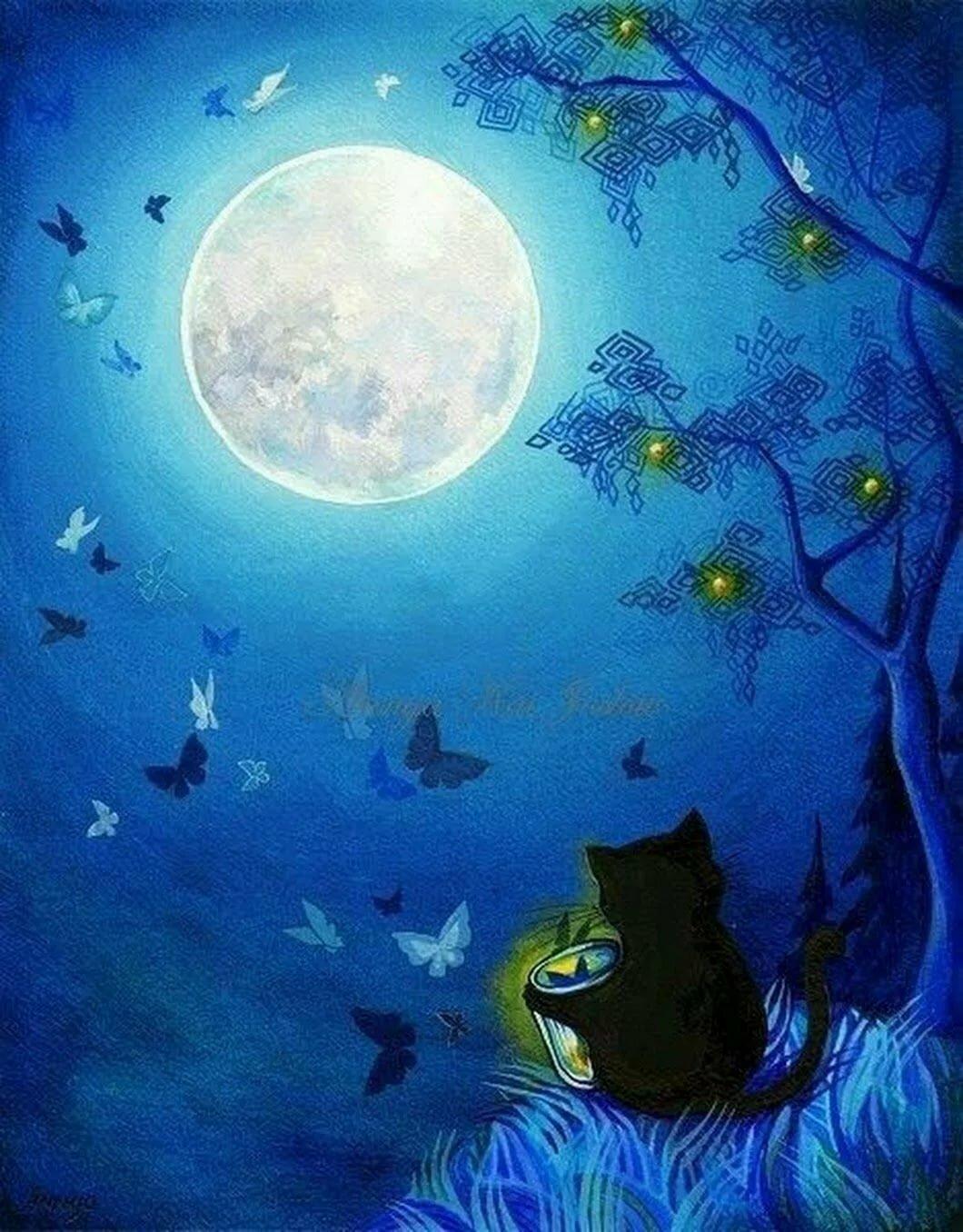 совсем сказочная луна и ночь картинки дом