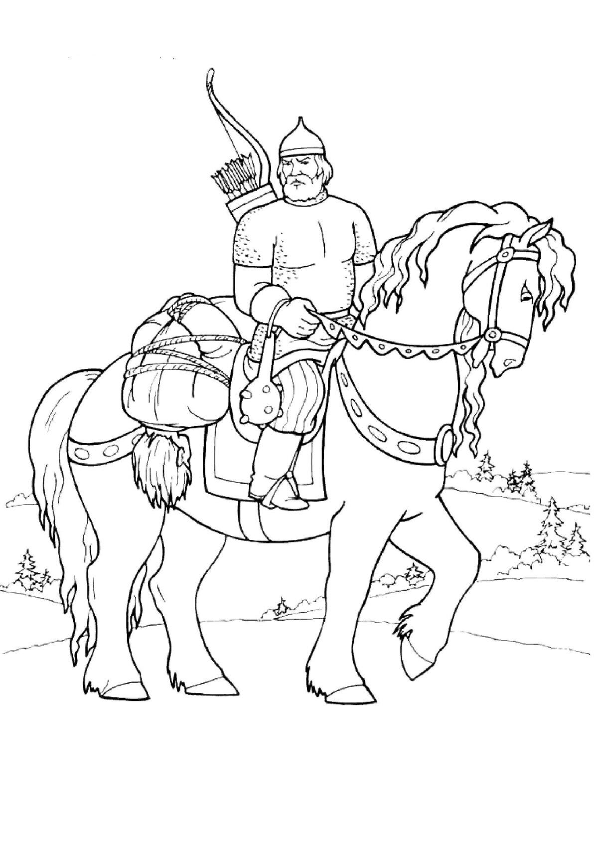 иллюстрации к русским былинам карандашом полон