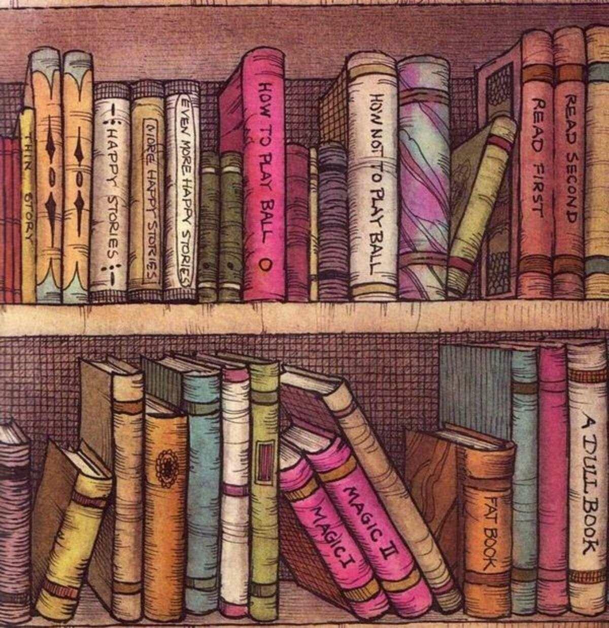 Рисованные картинки с книгами