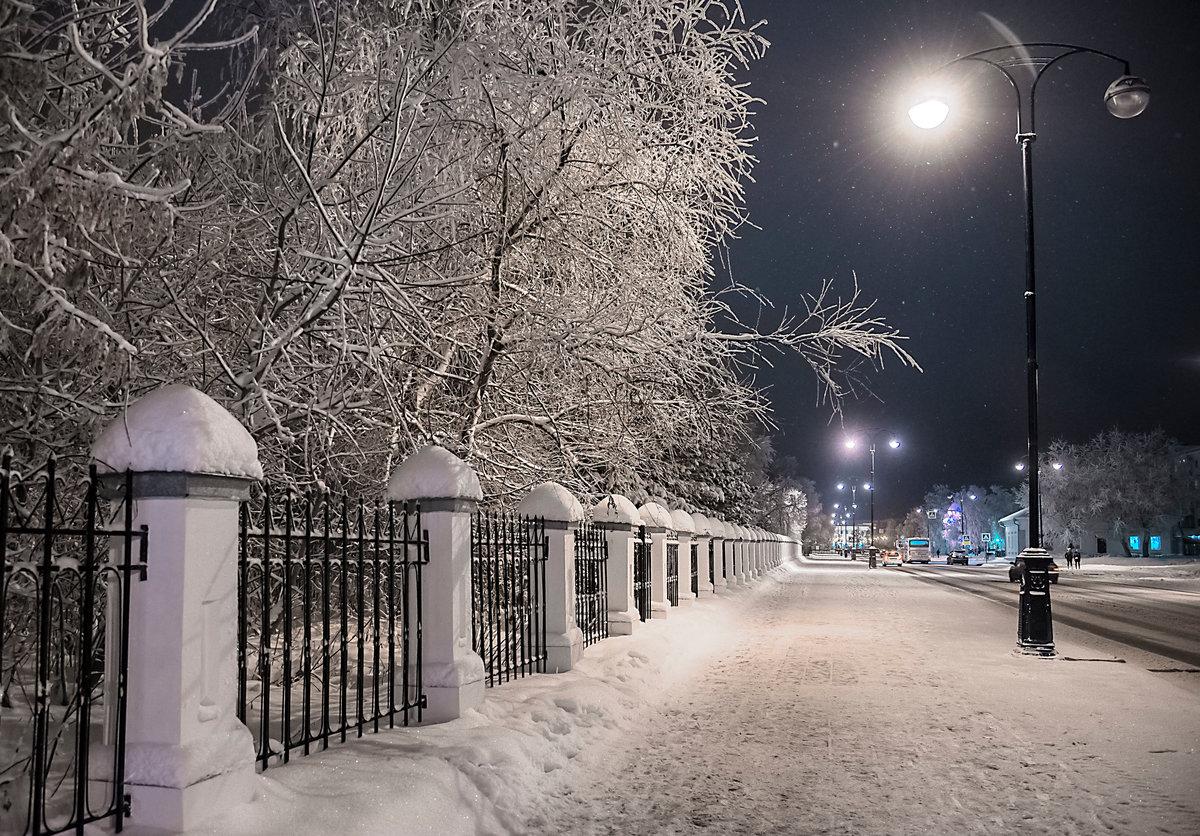 Вечер,город,зима.