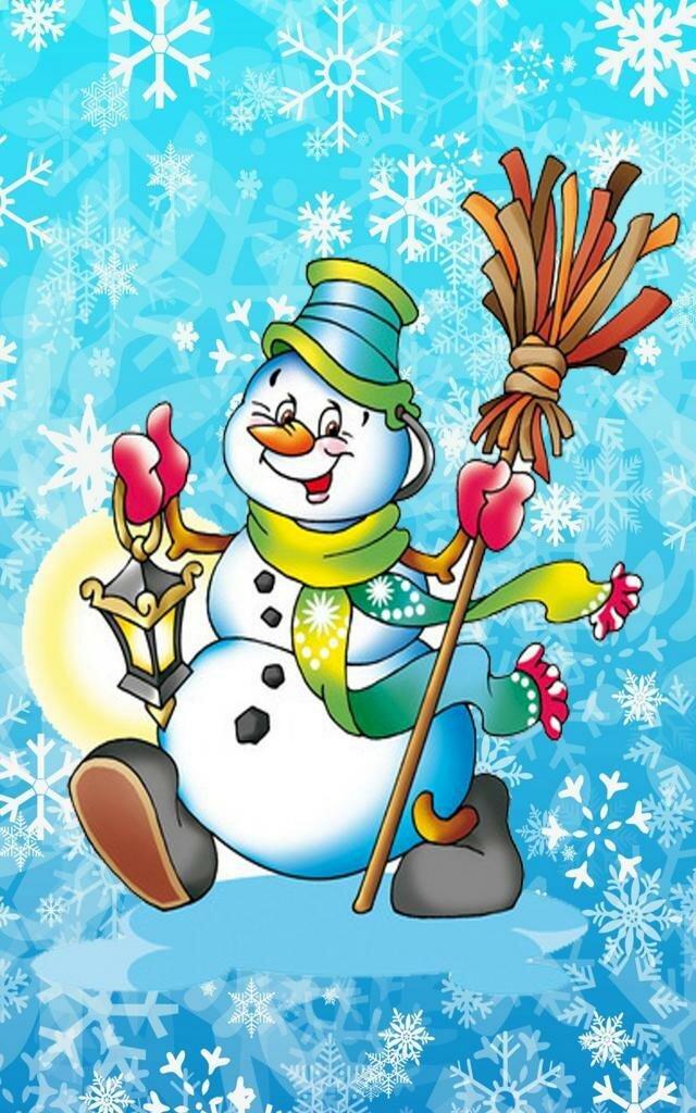 Снеговики новогодние картинки нарисованные, днем рождения