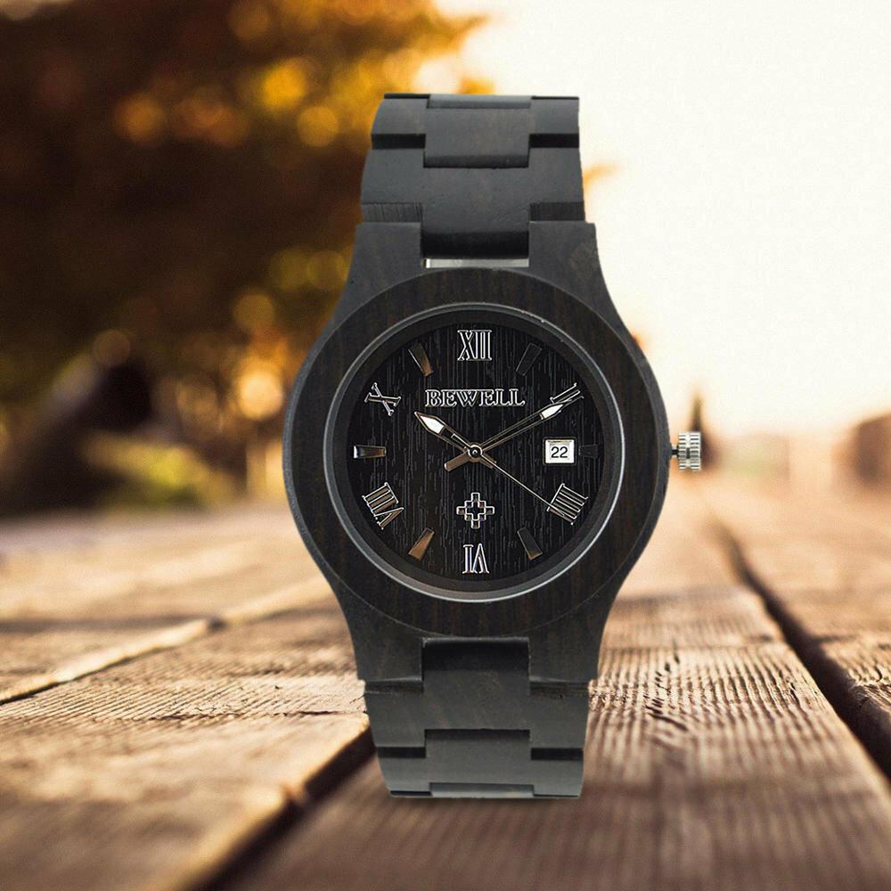 Uwood мужские натуральные деревянные часы повседневные аналоговые кварцевые наручные часы древесины подарок v5u8c.