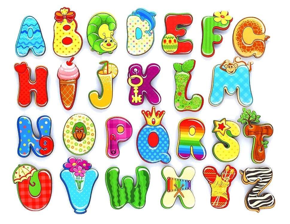 кнопку английский алфавит в красочных картинках свадьбу