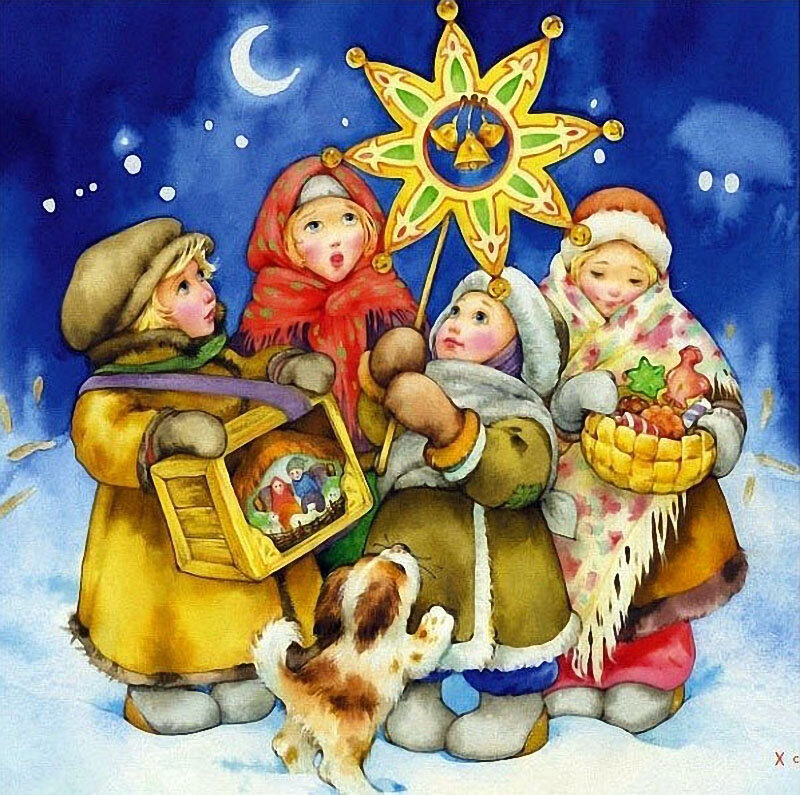 Гифки, украинские открытки на новый год