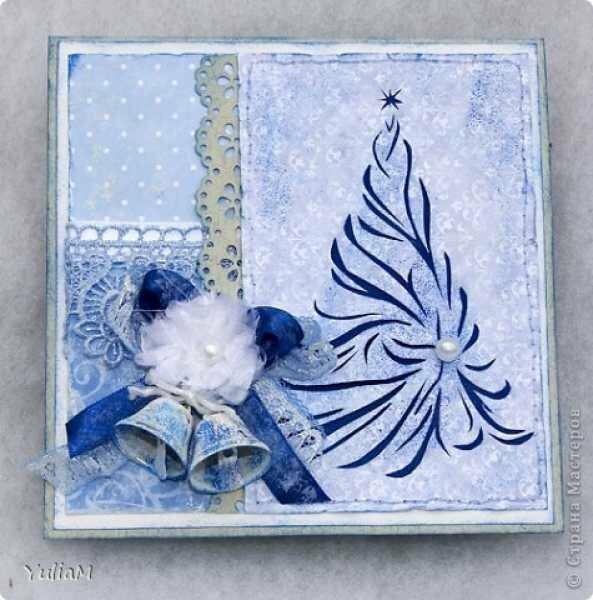 Картинки, праздничные открытки на новый год в белом листе