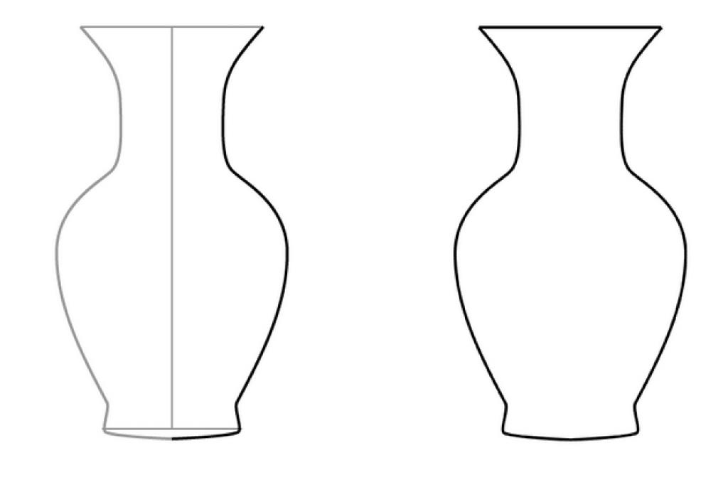 Контурные картинки ваза