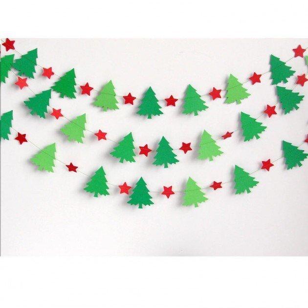 картинки для гирлянды на новый год из бумаги