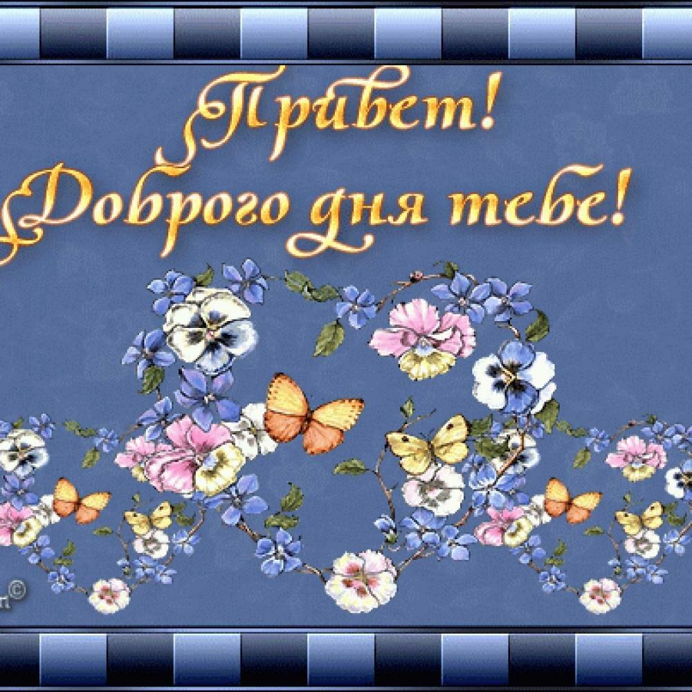 Поздравлением, красивые картинки с надписями добрый день привет