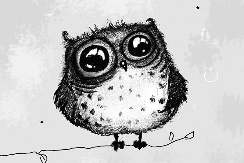 Смешная сова рисунки, утро понедельник