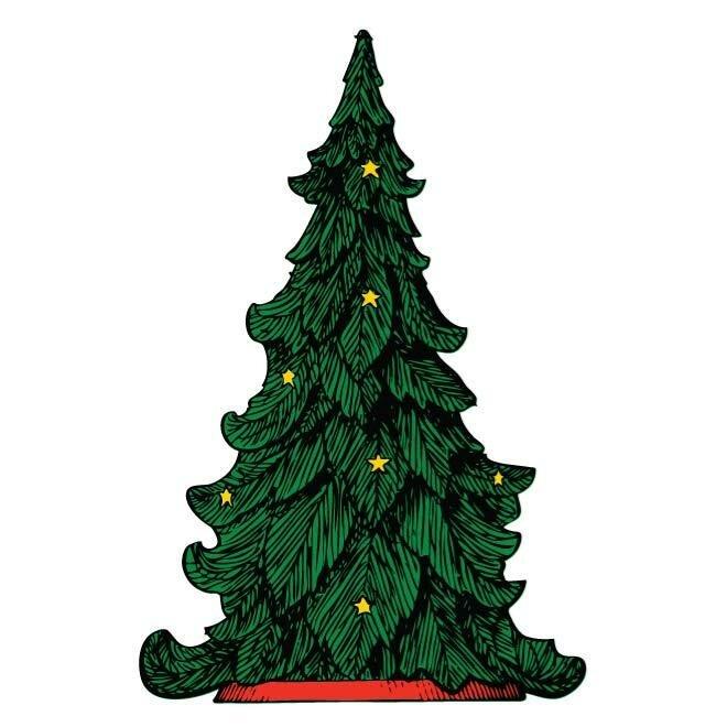 Картинка елки в векторе