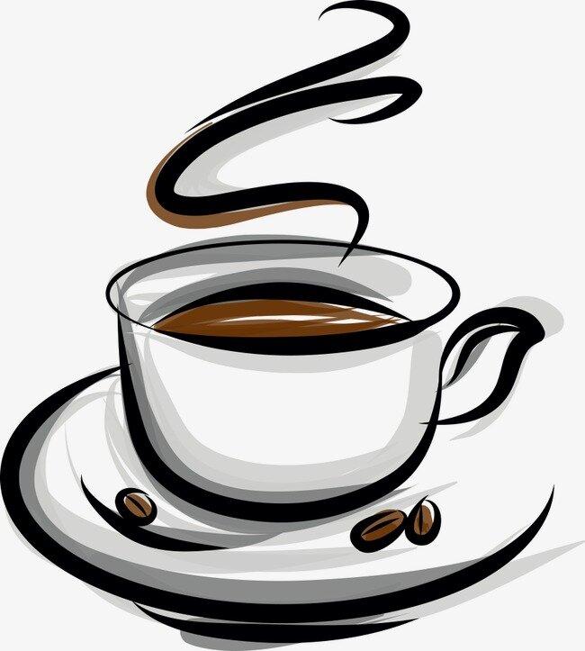 Открытки, рисунок с кофейной чашкой