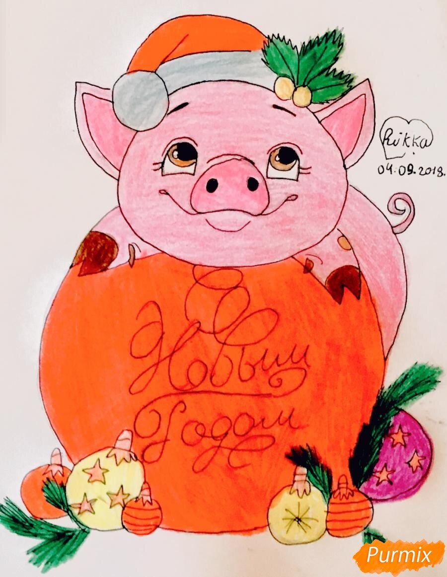 Анимации салюта, картинки нарисованные с новым годом 2019 год свиньи