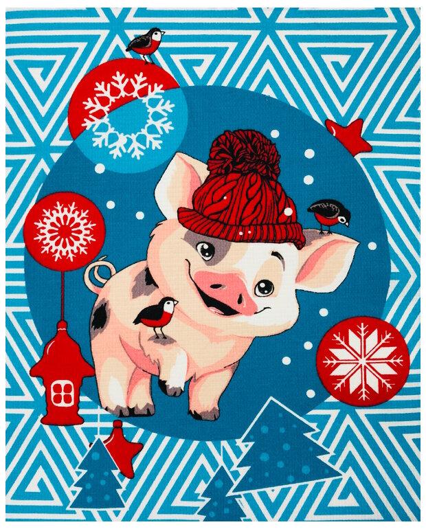 Нарисовать открытку с годом свиньи