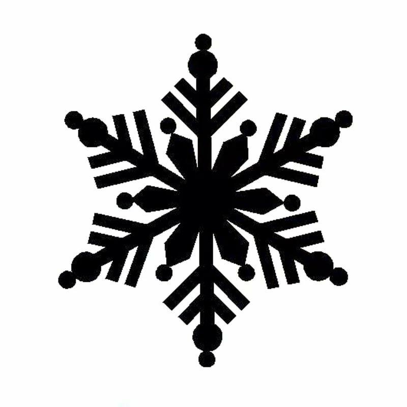 Картинки снежинок черные