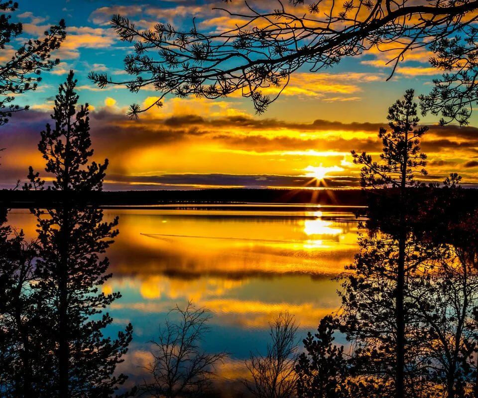 Открытки природа закат
