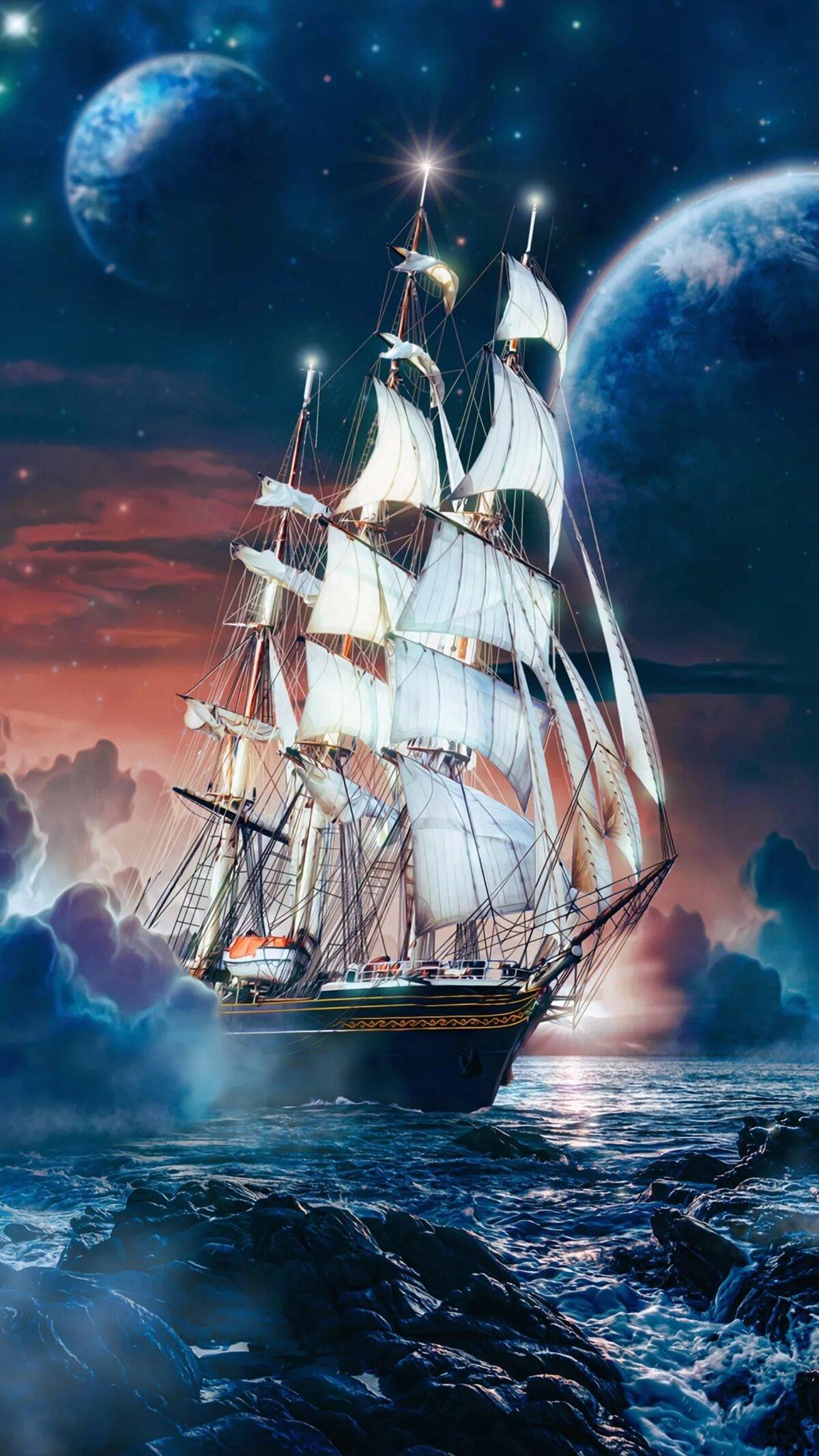 Картинка на телефон с изображением кораблей