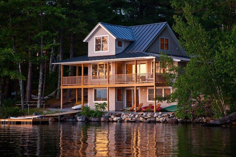 красивые дома у озера фото наличии широкий выбор
