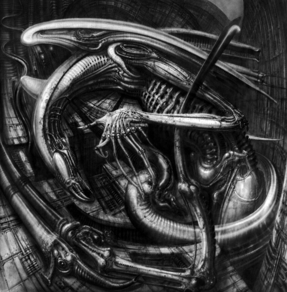 Рисунки чужого ганса гигера